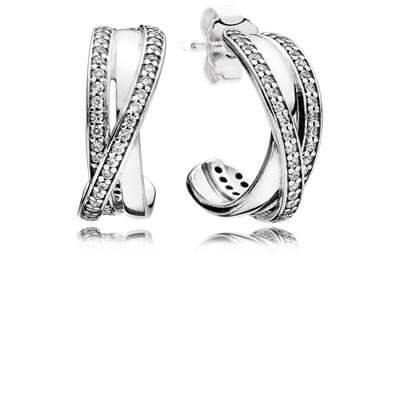 Серьги «Переплетение обруча»