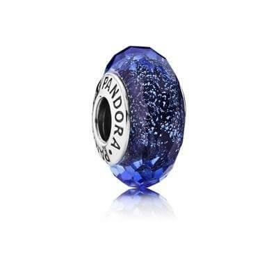Шарм «Мурано синего цвета с блестками»