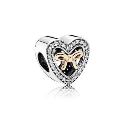 Шарм «Сердце с бантиком»