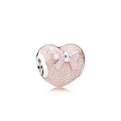 Шарм «Розовый бант и кружевное сердце»