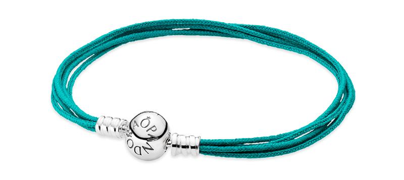 текстильные браслеты пандора